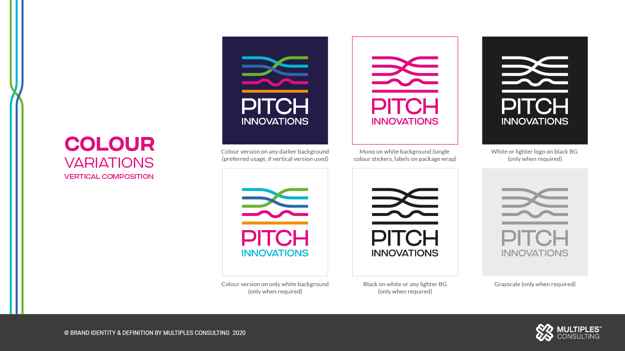 Pitch Innovations color variations